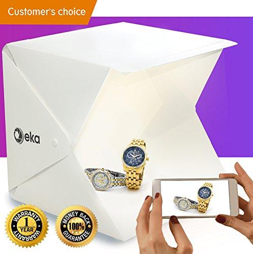 Photo box - Lightbox - Portable photo studio - Light box photography - Product photography light box - Photo light box - Light tent - Mini led studio photo box - Product photography kit - Light box by eka Co.