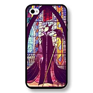 Personalized Disney Cartoon Sleeping Beauty Maleficent Hard Plastic Phone Case Cover for iPhone 4/4s - Black