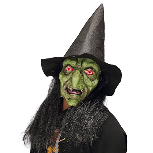 Halloween Horror Enchantress Costume Party Props Witch Green
