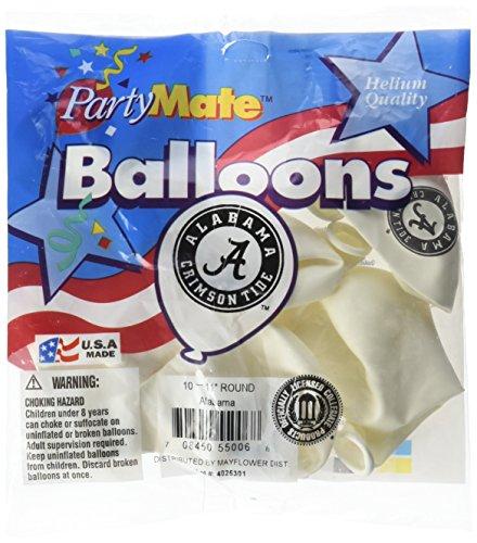 Pioneer Balloon Company 10 Count University of Alabama Latex Balloon, 11