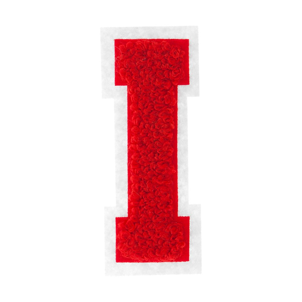 2 1//2 Heat Seal Chenille Small Varsity Letter C White on Black