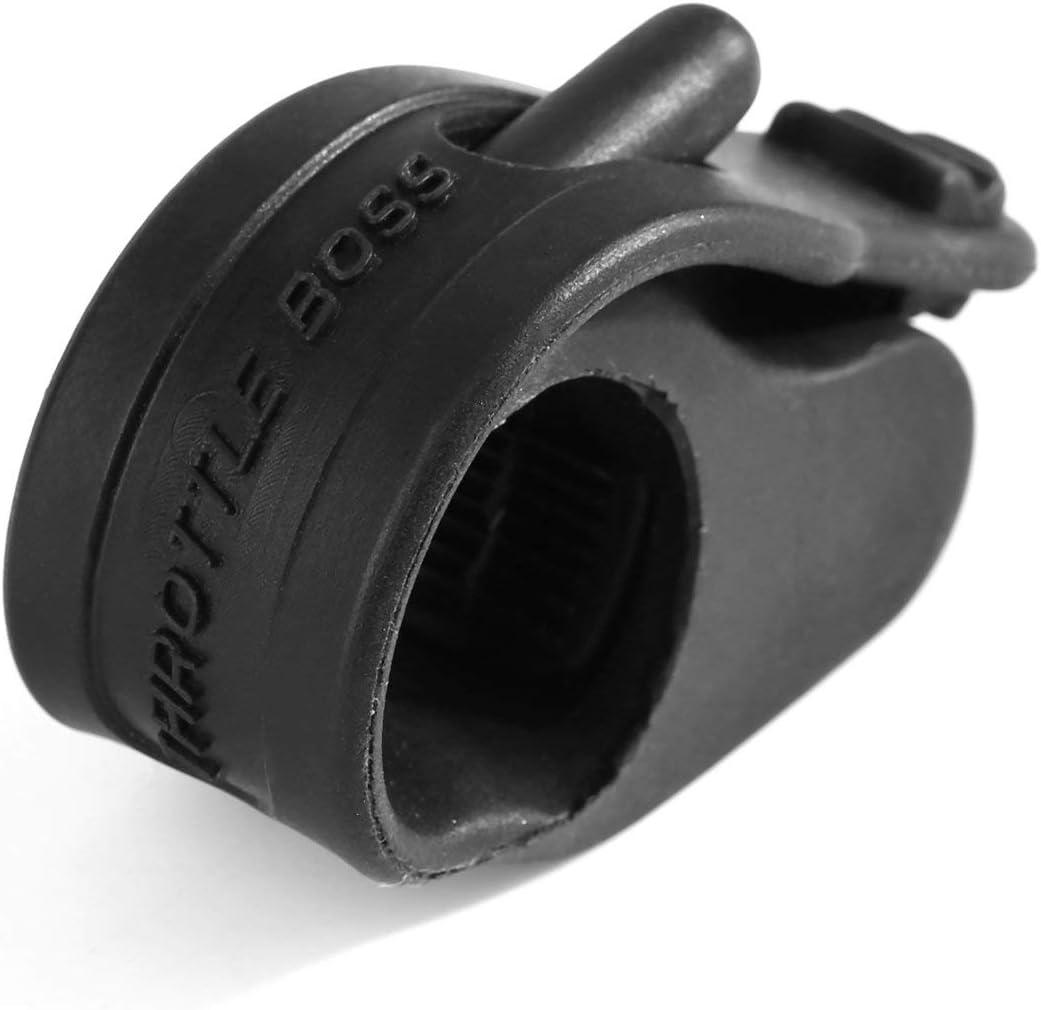 YUIO c/ómodo acelerador de goma antideslizante para motocicleta negro