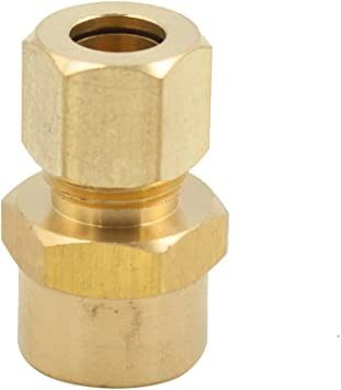 3//16 Tube OD x 1//8 NPT Male Male Connector Legines Brass Compression Fitting Adapter Pack of 2