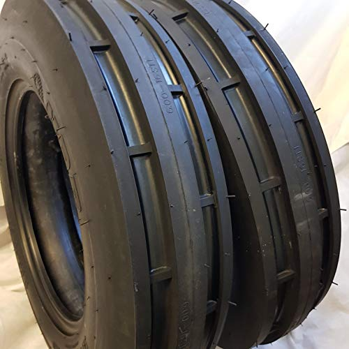 (2 TIRES + 2 TUBES) 6.50-16 8PLY ROAD WARRIOR F2 3-Rib Farm Tractor Tires 6.50x16 (Rc Tractor Tires)