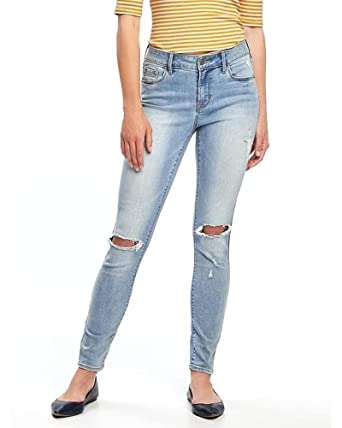 Old Navy Mid Rise Rockstar Distressed Jeans For Women Size 8 At