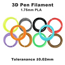 3D Pen,3D Drawing Printing Pen Kit with 2 Bonus(10Meter) PLA 1.75mm Filament Refills,for Crafting, DIY&Design,Non-Clogging Patented Nozzle,Black(XMasPackage)