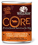 Wellness CORE Turkey, Chicken Liver and Turkey Liver Canned Dog Food, My Pet Supplies