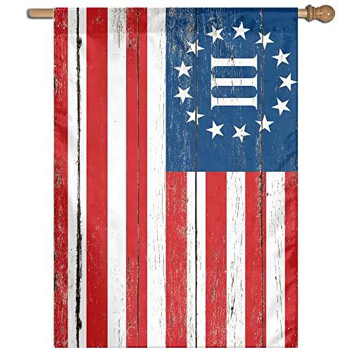 3 Percent Betsy Ross Nyberg Battle III Revolutionary War Military Flag Welcome Garden Flag Yard Flag Family Flag 27