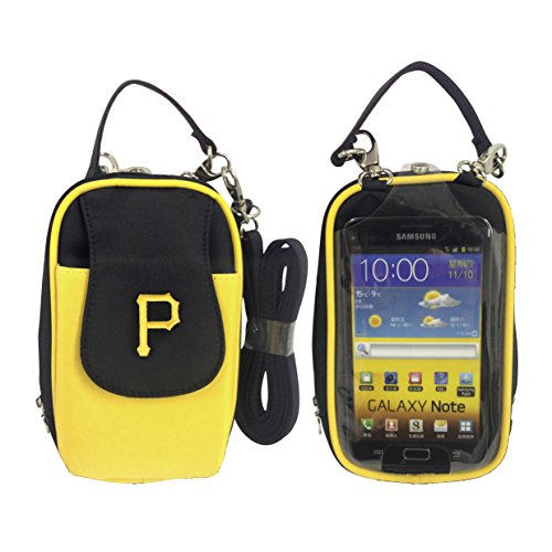 Charm14 MLB Pittsburgh Pirates Crossbody Cell Phone Purse - Fits All Phones