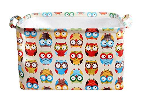 Collapsible Storage Basket - Foldable Jute Storage Bin for Organizing Kids Toys, Baby Clothing, Laundry.