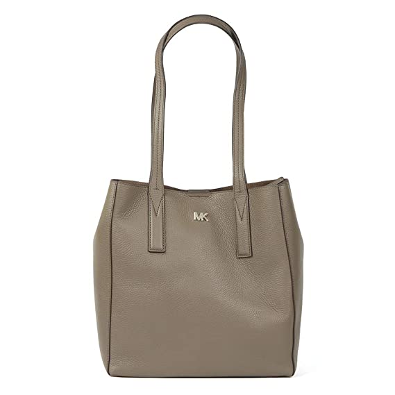 de323caab405 Michael Kors - Junie Mid Leather Tote Bag, Mushroom, OS: Amazon.co.uk:  Clothing