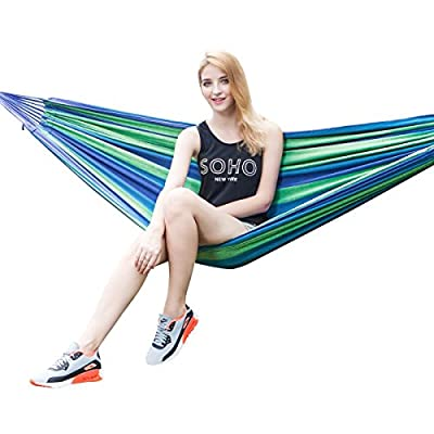 Leapair Outdoor Leisure Double 2 Person Cotton Hammocks 450lbs Ultralight Camping Hammock