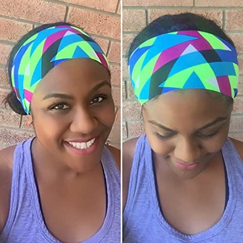 Green Stretchy Fitness Non Slip Headband