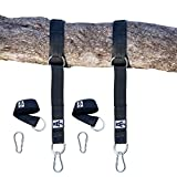 Tree Swing Hanging Kit Holds 2000lbs 10ft Extra Long Straps  Easy & Fast Swing Hanger Installation to Tree  2 Strap & Carabiner Hooks  Perfect For Swings, Hammocks & Anything Else You Can Imagine 