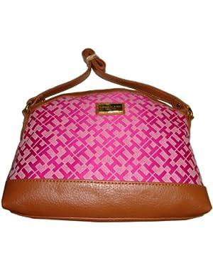 Women's Medium Top Zip Handbag (Pink Alpaca)
