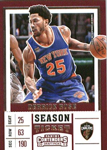 - Basketball NBA 2017-18 Panini Contenders Draft Picks Season Ticket #13 Derrick Rose Cavaliers