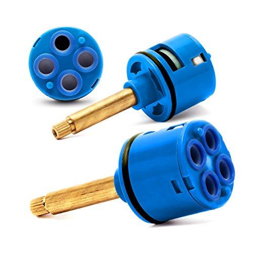 Shower Faucet Cartridge Replacement Ceramic Valve 4 Way Brass Diverter D 37mm L 33mm by AlexL