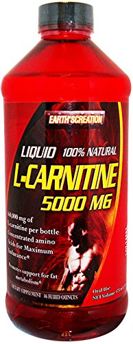 Earth's Creation Liquid L Carnitine 5000MG & Vitamin B5 Maximum Endurance 16 oz Orange Flavor