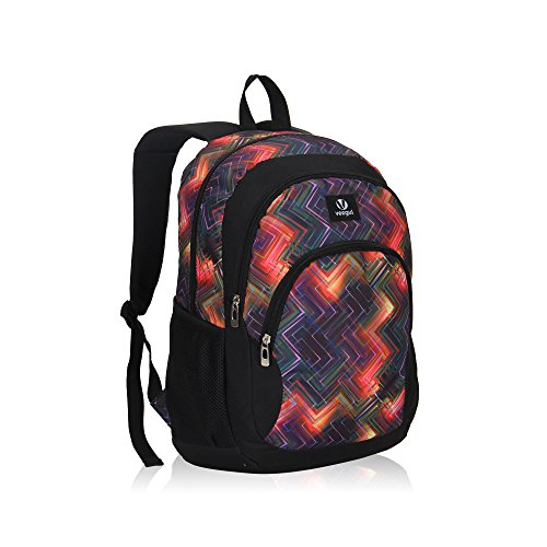 Veegul Cool Backpack Kids Sturdy Schoolbags Back to School Backpack for Boys Girls,Purple -