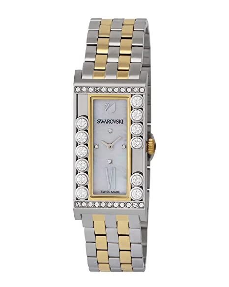 dd7a70bc27d1c Swarovski Lovely Crystals Square Yellow Gold-Tone Ladies Watch ...