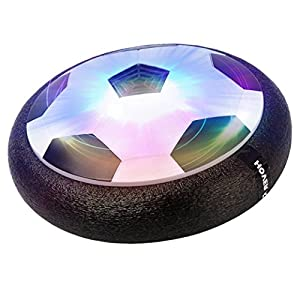 Best LED Hover Ball Air Power Soccer Disc Toy Football Black