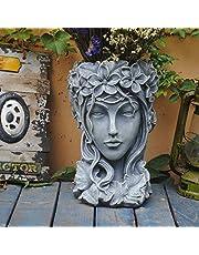 Sungmor Creative Head Planter Statue for Garden Ornaments | Premium Resin Flower Pot for Patio Lawn Garden Yard Decor