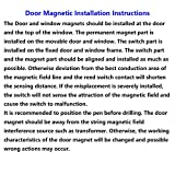 Dahszhi Home Security Wired Rolling Door Contact