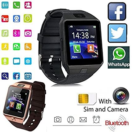 Klick n Shop Bluetooth Smartwatch with Camera Sim, SD Card