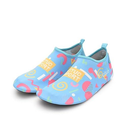 Nclon Señoras Secado Rápido Antideslizante Zapatos de Agua,Descalzo Aqua Calcetines Skin Shoes Respirable Piscina