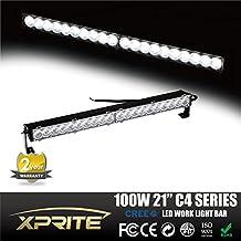 Xprite C4 Series 24 inch 100W 20 Cree LED 3D Lens Extreme Slim Off-Road 30 Degree Spot Beam Work Light Bar