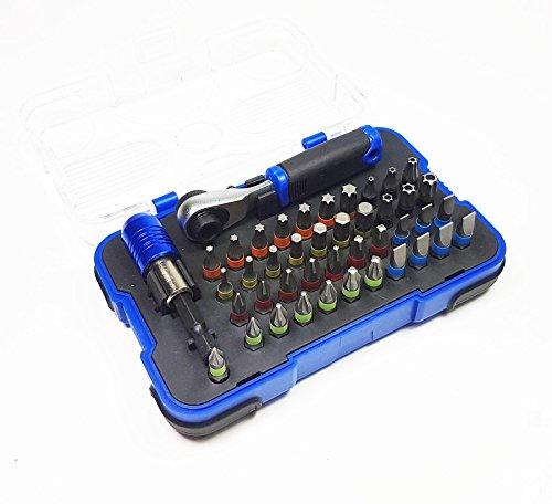Craft-Equip 43 tlg Bitsatz + Ratsche 72 Zähne Bitbox Bits Torx PH PZ Sortiment