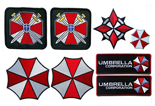 Bsaa Costume (Resident Evil Umbrella Corporation Security Costume [Set of 8] Patches and Die cast pin)
