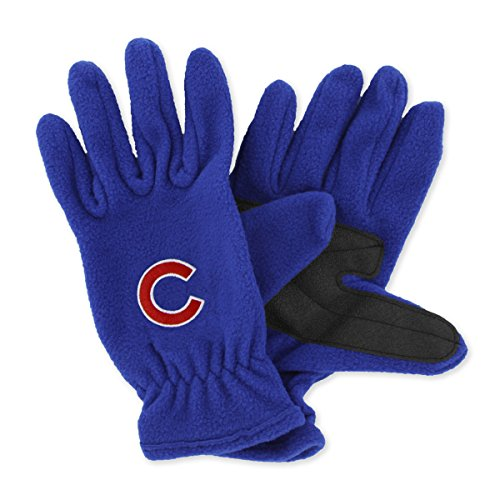 MLB Chicago Cubs Fleece Gloves (Royal, Men's)