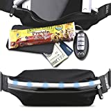 Gear Beast LED Reflective Safety Running Belt Fanny Pack Waist Bag, ID & Key Holder, Slim Sport & Travel Pack Holds Cell Phones Including iPhone X 8 7 6s 6 Plus Galaxy S6 S7 Edge S8 Plus Note 8