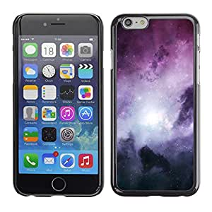 Qstar Arte & diseño plástico duro Fundas Cover Cubre Hard Case Cover para Apple iPhone 6(4.7 inches) ( Galaxy Stardust Space Purple Gas Clouds)