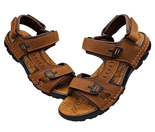 1Bacha Outdoor Brown Sport Leather Athletic Sandal Tortor Strap Mens d7qdSa