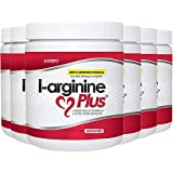 L-Arginine Plus Raspberry 6-Pack - #1 Natural Blood Pressure Supplement, Better Cholesterol, More Energy - Heart Health Supplement 13.4 oz