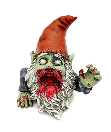 Zombie Gnome Garden Statue Sculpture