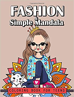 Amazon.com: Fashion and Simple Mandala Coloring Book For Teens ...
