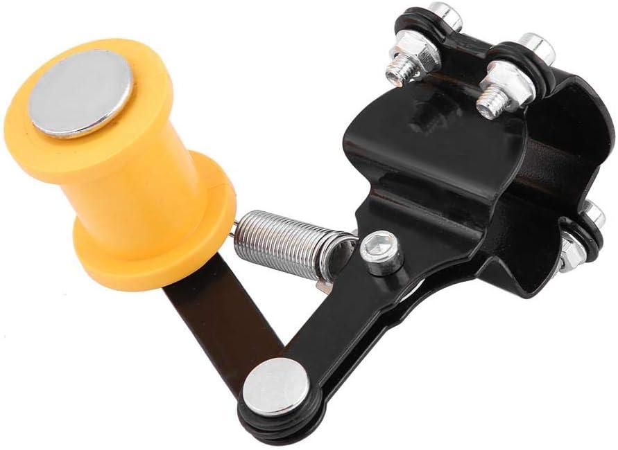 tendeur de cha/îne de r/églage MAGT boulon sur rouleau moto accessoires accessoires universel outil Tendeur de cha/îne Bleu