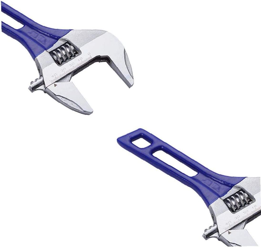 6 Wide Mouth Wrench Carbon Steel Adjustable Wrench with Strong Clamp Force Spanner Tools for Disassembly and Fastening