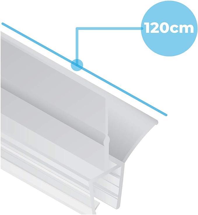 2x Junta de goma de repuesto para cabina de ducha 2x120 cm + ...