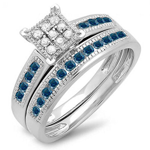 Sterling Silver Diamond Ladies Engagement