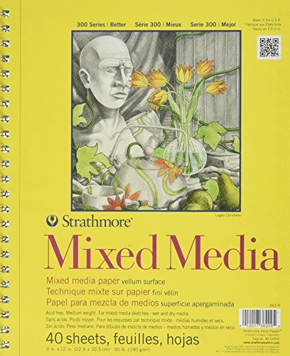 """Price comparison product image Strathmore STR-362-9 40 Sheet No.90 Mixed Media Pad,  9 by 12"""""""