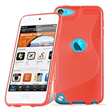 Cadorabo – Silicone Case S-LINE SLIM-FLEX for Apple iPod Touch 5 – Etui Cover Protection Bumper Skin in CANDY-APPLE-RED