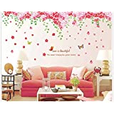 Oren Empower (2Pc/Set) Cherry Blossom Flowers Tree Wall Art Pvc Vinyl Extra Large Wall Sticker (Finished Size On Wall - 237(W) X 92(H) Cm)