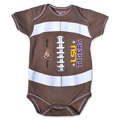 NCAA LSU Tigers Kids MVP Football Bodysuit, 6 Months, Brown