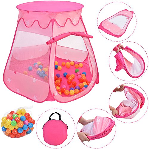 Kids Princess Play Tent Playhouse Ball Tent Outdoor/Indoor T