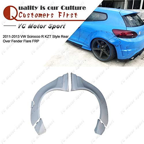 (Mudguards Car Accessories FRP Fiber Glass KZT Style Rear Fender 5pcs Fit For 2011-2013 Volkswagen Scirocco R Rear Over Fender Flare)