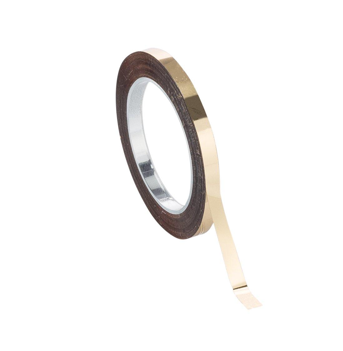 Chartpak Graphic Art Tape, 1/8 W x 324 L Inches, Gold Mylar Metallic, 1 Roll (BG12509)